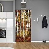 Etiqueta De La Pared De La Puerta 3D Deep Bamboo Forest Decoración Del Hogar Accesorios De Puerta Bonsai Decor-I_77 * 200Cm