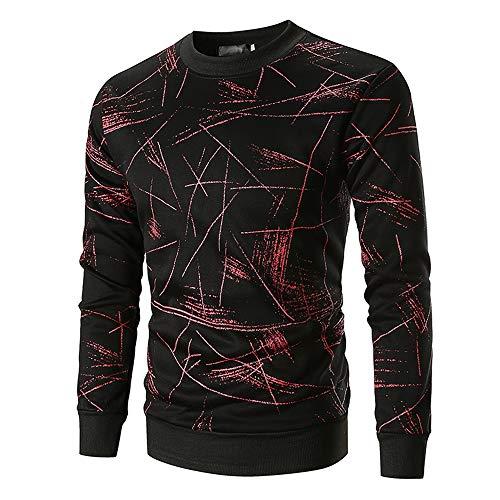 Herren Sweatshirt Herren Rundhals Mode Muster gedrucktes Pullover Langarm Pullover Slim Fit Freizeit Sport Fitness Basic Sport Moderner Streetwear Neuheit atmungsaktives Top XL