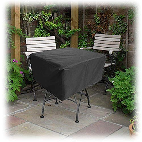 GZHENH-Rattan Furniture Covers ,Waterproof Dust-Proof Sun Protection Outdoor Furniture Storage Bag High Capacity,10 Sizes (Color : Black, Size : 123x123x74cm)