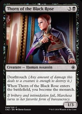 Magic The Gathering - Thorn of The Black Rose (048/221) - Conspiracy 2: Take The Crown