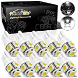 2012 Ford Fusion License Plate Light Bulbs - Partsam T10 168 194 LED Light Bulbs for Car Interior Dome Map Door Courtesy License Plate Lights-White 10Pcs