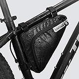 Roswheel Bolso de Bicicleta Triangle/Bolsa Frontal de Tubo para Bicicleta Impermeable/Alforjas Delantera Triangulo/Bolsa del Tubo Frontal Titular Triángulo Ciclismo Bicicleta (1,5L)