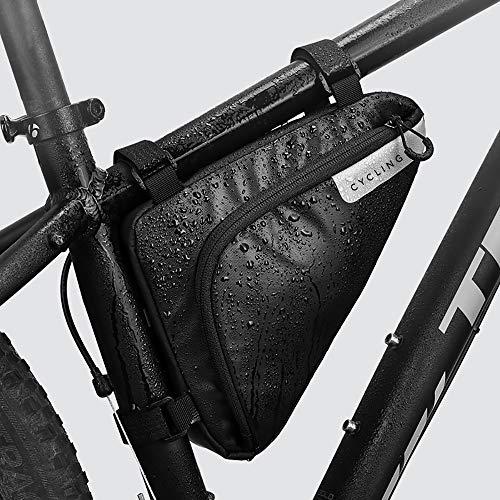 Roswheel Radtasche Triangle Bag, Fahrradtasche Rahmentasche 1.5 Liter, Logo mit Reflex-Applikationen, Wasserdichte Fahrradtasche für Alle Fahrräder