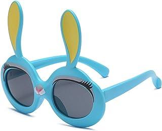 Pteng - PersonalityKids Gafas de sol polarizadas, protección UV400, gafas deportivas con marco flexible de silicona, gafas de dibujos animados para niños y niñas de 3 a 12 años