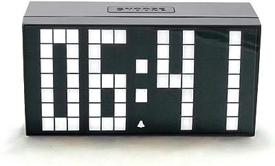 Steaean - Despertador multifunción con iluminación LED y tecnología Dot Matrix, Reloj Digital Mute
