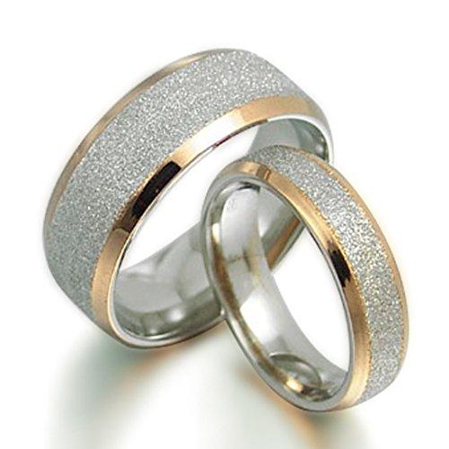 Gemelli sposo e sposa in oro 18K gli anelli in titanio anniversario di matrimonio,, UK SZ g a Z7
