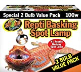 Zoo Med Repti Basking Spot Bulb, 100 watt, E27 threaded base, set of 2 bulbs