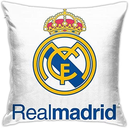 Real Madrid Logo PNG HD Fundas de Almohada Decorativas 18x18 en Diario Sofá Throw Pillow Case Fundas de cojín Funda de Almohada con Cremallera