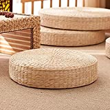 ZTGD Seat Cushion, Rattan Tatami Cushion Breathable Widely Applied Comfortable Round Straw Weave Handmade Pillow for Floor 40cm