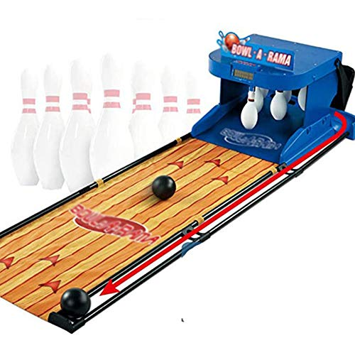 CNTL-COVER Elektronische Bowlingbahn Spiel, Kinder Und Erwachsene Interaktives Spiel, Familien Spiel Bowling-Spiel Mit Scorer Soundeffekten LED-Leuchten-6.6 Feet Zusammenklappbare