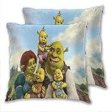 Funda de almohada Shrek The Halls Fiona and Shrek's Kids de poliéster suave...