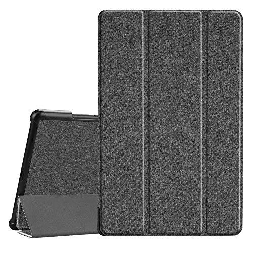 Fintie Hülle für Samsung Galaxy Tab A 10.5 2018 - Ultra Schlank Superleicht Schutzhülle mit Auto Schlaf/Wach Funktion für Galaxy Tab A 10.5 Zoll SM-T590/T595 Tablet-PC, Jeansoptik dunkelgrau