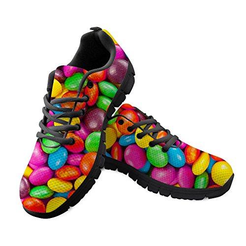 Shinelly Sportschoenen voor heren, snoepgoed met patroon, loopschoenen, sneakers, ademend, lichte trailloopschoenen