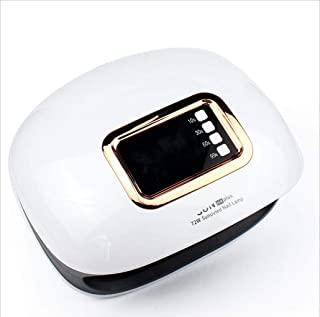 Ysswjzz UV LED Nail Lamp,Four speeds, LCD Display, Dual Light Sources can Dry All Glue,Automatic Sensor Nail Art Tools for Fingernail and Toenail