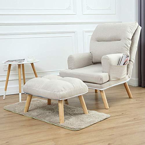 N/Z Home Equipment Silla reclinable Europea Cama Plegable Convertible Sofá Individual Sillón...