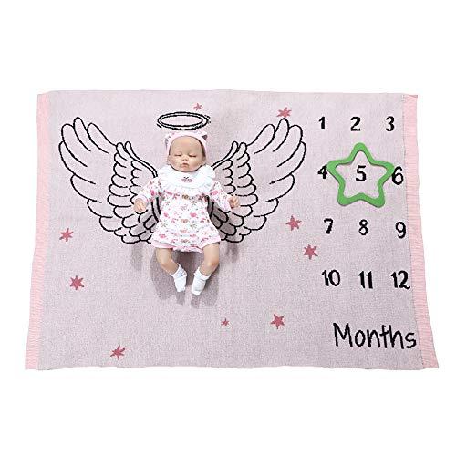 Pluizige Newborn Maanmilestone deken, baby milestone deken, superzachte acryl First Year babydeken, fotodeken voor babyjongens of meisjes