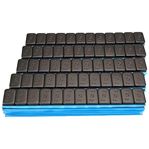 50 Negro Contrapesos 12x5g Pesos Adhesivos Pesos