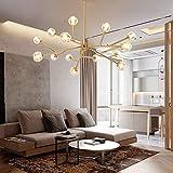 Nologo LFFSXSM Moderna Minimalista Comedor Sala de Estar Dormitorio de la Personalidad Creativa Firefly Haba mágica de la lámpara 15 Jefes