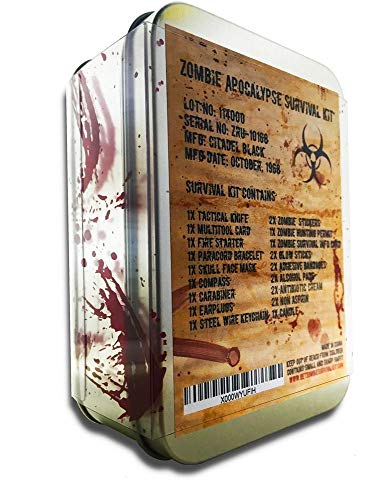 Graduation gift for guys: zombie apocalypse survival kit