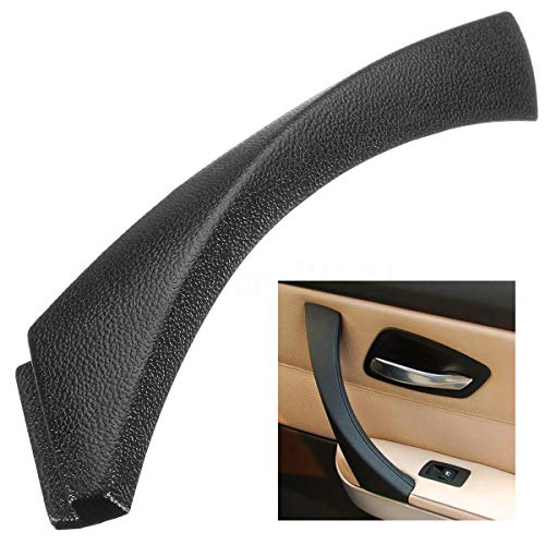 SODIAL Manija del Panel de La Puerta Interior del Lado Derecho Tire de La Cubierta del Borde Exterior para BMW Serie 3 E90 E91 E92 E93 Negro