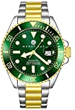 Henry Jay Mens Stainless Steel Professional Dive Watch with Screw Down Crown
