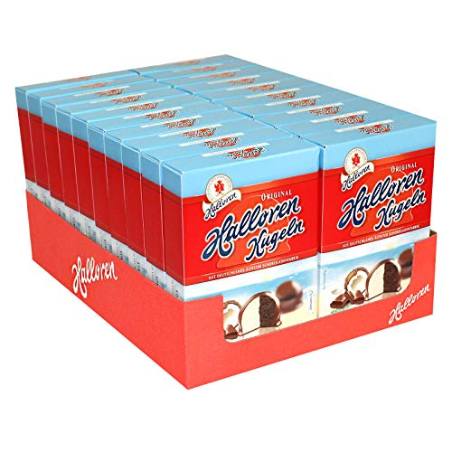 20er Pack Original Halloren Kugeln Kokos-Schoko (20 x 125 g) Hallorenkugeln Halloren Schokolade