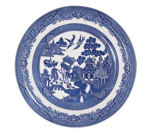 Churchill Blue Willow Dinner Plates 10', Set of 4