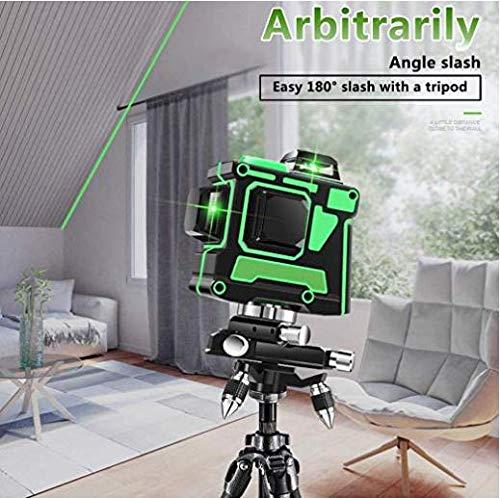 Láser verde en 3D de 12 líneas, nivelador, láser en cruz, 360 horizontal y vertical,...