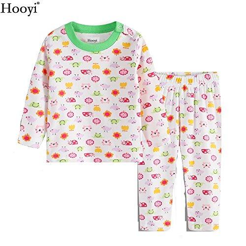 Hooyi - Ensemble de pyjama - Bébé (fille) 0 à 24 mois Vert Green - Vert - S