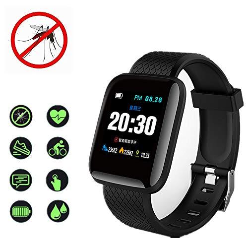 TZH Smart Mosquito Repellent Watch, IP67 Waterproof and Rechargeable Multifunctional Sports Sleep Detection Bracelet, Ultrasonic Mosquito Repellent, Suitable for Outdoor