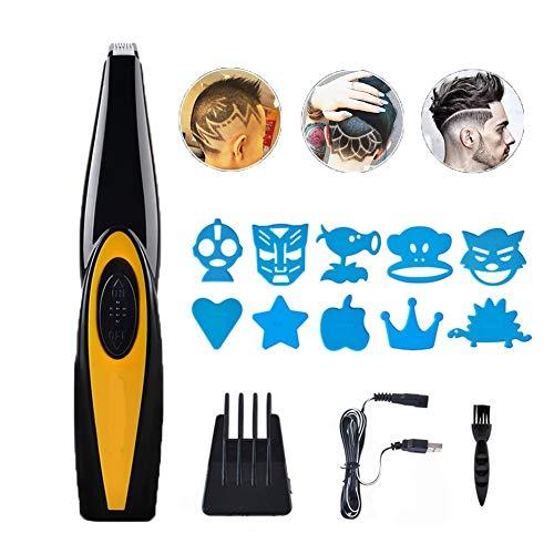 jybbpcbhb Herren Profi Haartrimmer USB Wiederaufladbare Salon Friseur Haar Styling Werkzeuge Kompakte Tragbare Für Erwachsene Kinder Gravierbares Muster