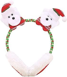 WILLBE Christmas Headband Earmuffs Headdress Party Decor Warm Ear Earmuffs Christmas Winter Warm Plush Earmuffs Cute