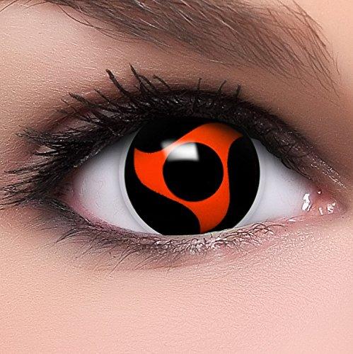 Sharingan Kontaktlinsen Naka's Mangekyou in rot inkl. Behälter - Top Linsenfinder Markenqualität, 1Paar (2 Stück)