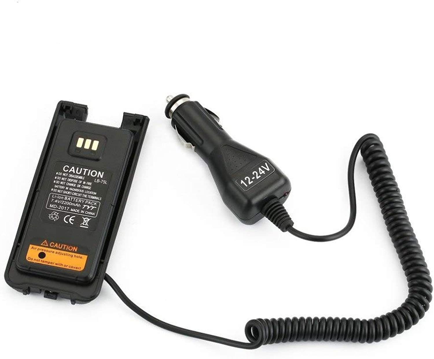 Compact Car Charger Radio Battery Eliminator for Caricabatteria Walkie Talkie Per TYT DMR Radio Digitale with DC 12V 24V
