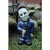 Horror-Film-Gartenzwerge, Rasen-Dekoration, Albträume, Horror-Killer, gruselige Untote, Halloween-Skulptur, Kampf-Zwerg für den Außenbereich, Garten, Zombies, Totenköpfe