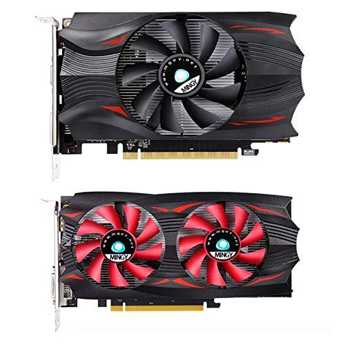 Tarjeta de gráficos del juego - Tarjeta de gráficos de video de computadora, Tarjeta de gráficos de oficina de alto rendimiento (RX 550 4G GDDR5 DVI-D DP HDMI 128bit) Frecuencia central: 1176MHz, Memo