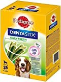 Pedigree DentaStix Fresh Hundeleckerli für mittelgroße Hunde / Kausnack gegen Zahnsteinbildung / Für gesunde Zähne und einen frischen Atem / 4x28 Stück