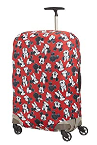 Samsonite Global Travel Accessories Disney - Funda para Maleta en Lycra , M, Rojo (Mickey/Minnie Red)