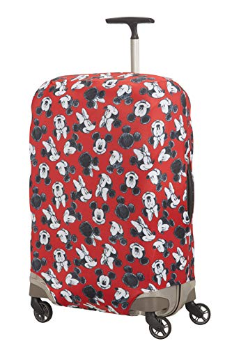 Samsonite Global Travel Accessories Disney - Funda para Maleta en Lycra , M, Rojo (Mickey/Minnie Red)