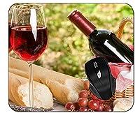 オフィスマウスパッドフードワイン赤ワイングラスパーソナライズされた長方形ゲーミングマウスパッド