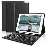 Tastatur Hülle 9.7 für iPad 2018 (6th Gen)- iPad 2017 (5th Gen)- iPad Pro 9.7- iPad Air 2 und 1- Wireless Bluetooth Tastatur [QWERTZ Deutsches]- Stifthalter- Magnetisch Schlaf/Wach, ipad Tastatur Hülle