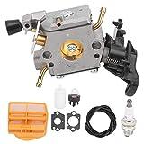 Kit de carburador, accesorio de pieza de motosierra de gasolina apto para Husqvarna 445 445e 450 450E
