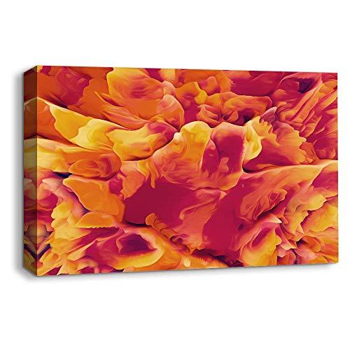 Lienzo para pared con diseño de ondas energéticas, decoración para el hogar, decoración para sala de estar, dormitorio, 30,5 x 45,7 cm enmarcado