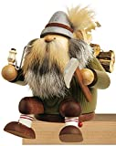 KWO Sitting Lumberjack German Christmas Incense Smoker Handcrafted in Germany