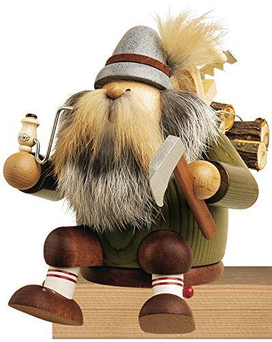 KWO Sitting Lumberjack German Christmas Incense Smoker Handcrafted in Germany