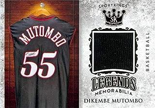 Dikembe Mutombo player worn jersey patch basketball card (Philadelphia 76ers) 2018 SAGE Sportkings #LSM11