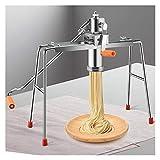 PPLAS Vermicelli Linguine Spaghetti Maker Manuale Macaroni Macchina di Pasta con 9 Noodle Stampo per la Stampa Acciaio Inossidabile per Uso Domestico (Color : Silver)