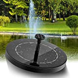 2.5W Solar Fountain Pump for Bird Bath, Solar Powered Water Fountain Pump for Garden Small Pond Pool Bird Bath Outdoor,with 800 mAh Battery Backup【2020 Upgrade】