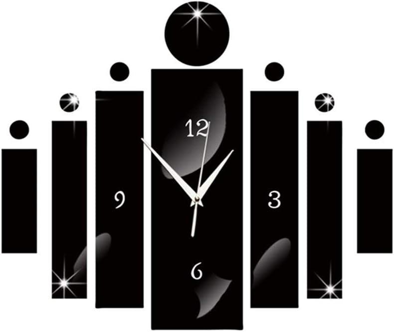 YQSWWD Sales famous Wall Clocks Clock Modern 3D Acrylic DIY Plastic Big Mirro