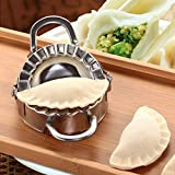 Eco-Friendly Pastry Tools Stainless Steel Dumpling Maker Wraper Dough Cutter (Silver)